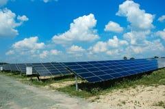 Solar Panels Against A Blue Sky Royalty Free Stock Photos