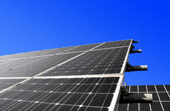 Solar panels. Against blue sky Royalty Free Stock Photos