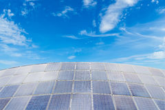 Solar panels against blue sky background Stock Images
