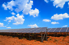 Solar panels against blue sky Stock Photography