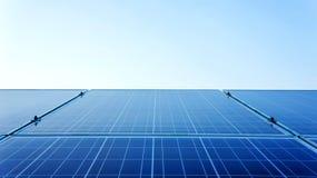Solar Panels Against. The Deep Blue Sky Stock Photos