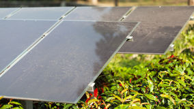 Solar Panels Against nature Stock Images