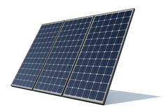 Solar panels against a white background Stock Photo