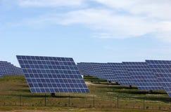 Solar panels alternative energy power station Royalty Free Stock Images