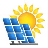 Solar panels alternative energy source Stock Image
