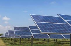 Solar panels alternative renewable energy from the sun Stock Photo