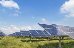 Solar panels alternative renewable energy from the sun Royalty Free Stock Images