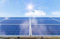 Solar panels alternative renewable energy from the sun Stock Photography
