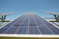 Solar panels. Alternative sources of power. Solar farm. Stock Photo