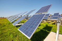 Solar panels. Alternative sources of power. Solar farm. Royalty Free Stock Photography