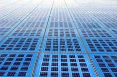Solar panels array Stock Photos