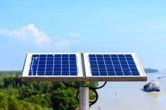 Solar panels. Array of alternative energy photovoltaic solar panels Royalty Free Stock Photos