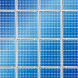 Solar panels background Stock Photo