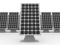 Solar panels background Stock Image
