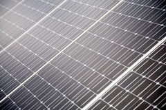 Solar Panels Background. A background with a view of diagonally placed solar panels Royalty Free Stock Photos