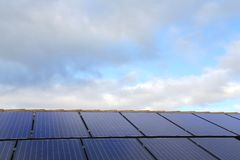 Solar panels background Royalty Free Stock Image