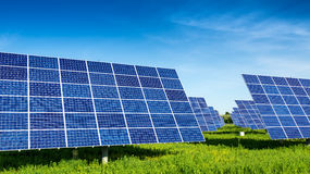 Solar Panels, beautiful, fabulous landscapes Stock Photos