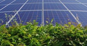 Solar panels beautiful landscape Royalty Free Stock Image
