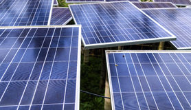 Solar Panels. For better sustainable future Royalty Free Stock Photos