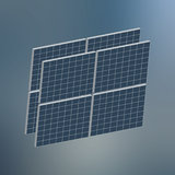solar panels icon Stock Image
