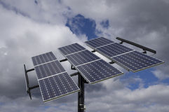 Solar Panels Blue Cloudy Sky Royalty Free Stock Image