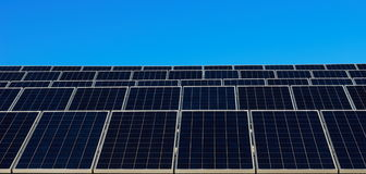 Solar panels and blue sky Stock Images
