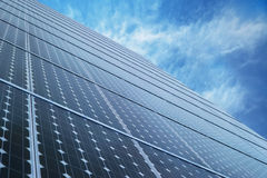 Solar panels and blue sky Stock Photography