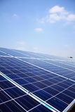 Solar panels. With blue sky Stock Images