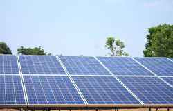 Solar panels. With blue sky Royalty Free Stock Photography