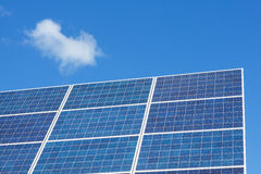 Solar panels on blue sky Royalty Free Stock Images