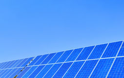 Solar panels with blue sky Stock Photography