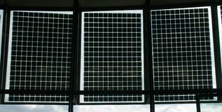 3 solar panels Royalty Free Stock Photo
