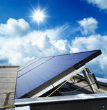 Solar panels on a Building Royalty Free Stock Photos