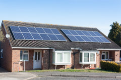 Solar Panels on Bungalows Royalty Free Stock Images