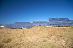 Solar panels in cadiz Royalty Free Stock Images