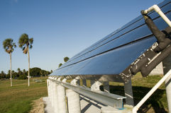 Solar Panels at Camp Grounds Stock Images