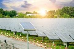 Solar panels solar cell in solar farm with blue sky and sun li stock photography
