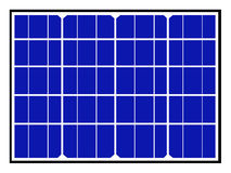 Solar Panels and cells Royalty Free Stock Photography