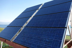 Solar panels cells Royalty Free Stock Images