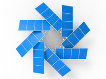 Solar panels circular array Royalty Free Stock Images