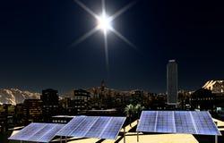 Solar panels in city Royalty Free Stock Photo