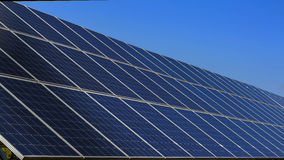 Solar panels and clear sky Royalty Free Stock Photo