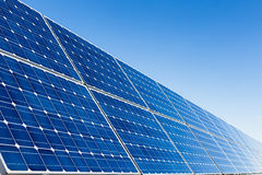 Solar panels and clear sky Stock Photography
