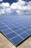 Solar Panels and cloud Royalty Free Stock Photography