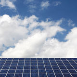 Solar panels and cloudscape Stock Photography