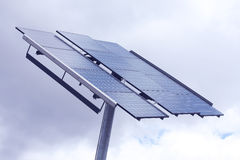 Solar panels on a cloudy day Royalty Free Stock Photos
