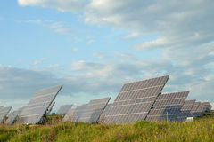 Solar panels collecting sunlight Royalty Free Stock Photography