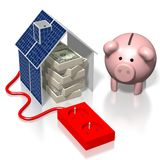 Solar panels concept Royalty Free Stock Image