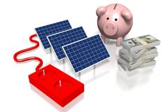 Solar panels concept Stock Photo