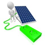 Solar panels concept Stock Image